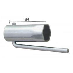 Llave de bujia para ciclomotores plegable Hex.21mm