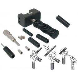 Herramienta para instalar/desinstalar cadenas selladas