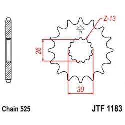 Piñon JT 1183 de acero con 17 dientes