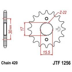 Piñon JT 1256 de acero con 15 dientes