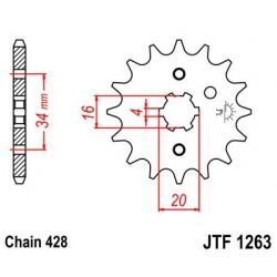 Piñon JT 1263 de acero con 12 dientes