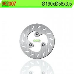 Disco de freno NG 007 Ø190 x Ø58 x 3.5