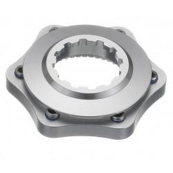 Conversor disco universal a center lock con arandela de cierre color plata