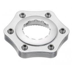 Conversor disco universal a center lock con arandela de cierre y espaciador color plata