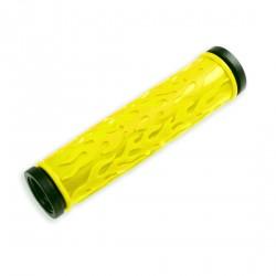 Par punos bici 125mm negro/amarillo