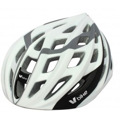 Casco V Bike MTB/Road 24 ventilaciones Blanco/silver PC/PVC/EPS semi in mould. Talla M (55-58cm)