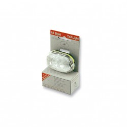 Linterna 4 funciones con pilas. Blanca