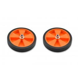 Par de ruedas completas para estabiciclo llanta naranja