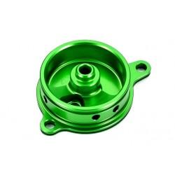 Tapa filtro de aceite verde Kawasaki