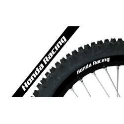 Adhesivo Llanta Blackbird Crystal Honda Racing negro 5068R/20