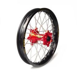 Rueda completa Haan Wheels aro negro 18-2,15 buje rojo 1 116012/3/6