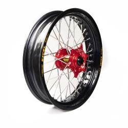 Rueda completa Haan Wheels aro negro 16-3,50 buje rojo 1 115050/3/6