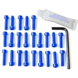 Kit tornillería de motor Pro-Bolt Aluminio azul Hornet 600 2007+ EHO097B