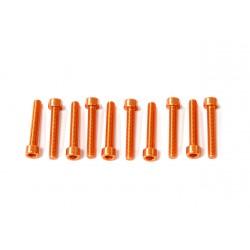 Kit tornillos allen cabeza cilíndrica Pro-Bolt M5 x 30mm (10 pack) Aluminio naranja LPB530-10O