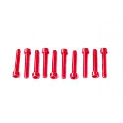 Kit tornillos allen cabeza cilíndrica Pro-Bolt M5 x 30mm (10 pack) Aluminio rojo LPB530-10R
