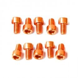 Kit tornillos allen cabeza cilíndrica Pro-Bolt M6 x 10mm (10 pack) Aluminio naranja LPB610-10O