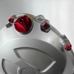 Tapón de llenado de aceite Pro-Bolt Honda Aluminio rojo OFCH10R