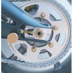 Tuerca de corona 10mm x 1,25 (6 pack) Aluminio oro Pro-Bolt SPN10G