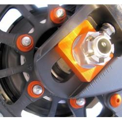 Tuerca de corona 10mm x 1,25 (6 pack) Aluminio naranja Pro-Bolt SPN10O