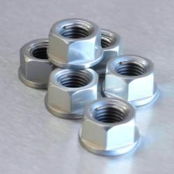 Tuerca de corona 10mm x 1,25 (6 pack) Aluminio plata Pro-Bolt SPN10S