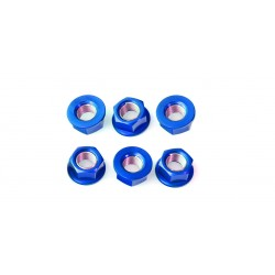 Tuerca de corona 12mm x 1,25 (6 pack) Aluminio azul Pro-Bolt SPN12B