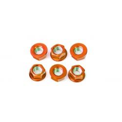 Tuerca de corona 12mm x 1,25 (6 pack) Aluminio naranja Pro-Bolt SPN12O