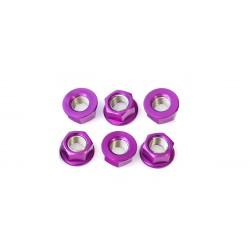 Tuerca de corona 12mm x 1,25 (6 pack) Aluminio violeta Pro-Bolt SPN12P