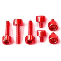 Kit tornillería tapón depósito Pro-Bolt ZX10R (06-15) aluminio rojo TKA243R
