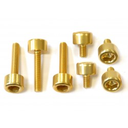 Kit tornillería tapón depósito Pro-Bolt ZX10R (06-15) aluminio oro TKA243G