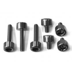 Kit tornillería tapón depósito Pro-Bolt ZX10R (06-15) aluminio negro TKA243BK