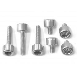 Kit tornillería tapón depósito Pro-Bolt ZX10R (06-15) aluminio plata TKA243S