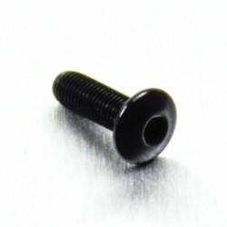 Tornillo de Aluminio Pro-bolt cabeza redondeada M4 x (0.5mm) x 12mm Fine negro LFB412FBK