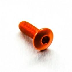 Tornillo de Aluminio Pro-bolt cabeza redondeada M4 x (0.5mm) x 12mm Fine naranja LFB412FO