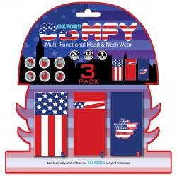 Braga Confort Barras & Estrellas (Bandera USA) pack de 3 Oxford NW119